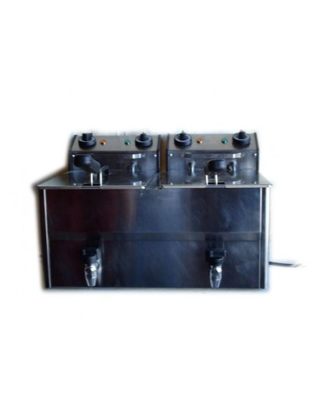 Friteuse double 2*8 litres